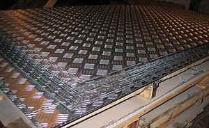 Лист алюминиевый рифленый 3х1200х3000мм (Квинтет) ТУ 1-801--20-2008